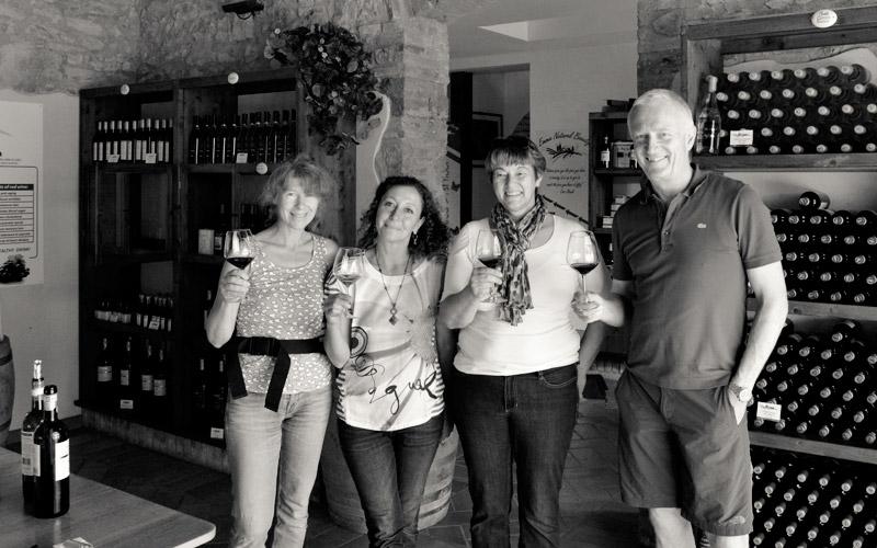 Wein abholen bei Casa Emma
